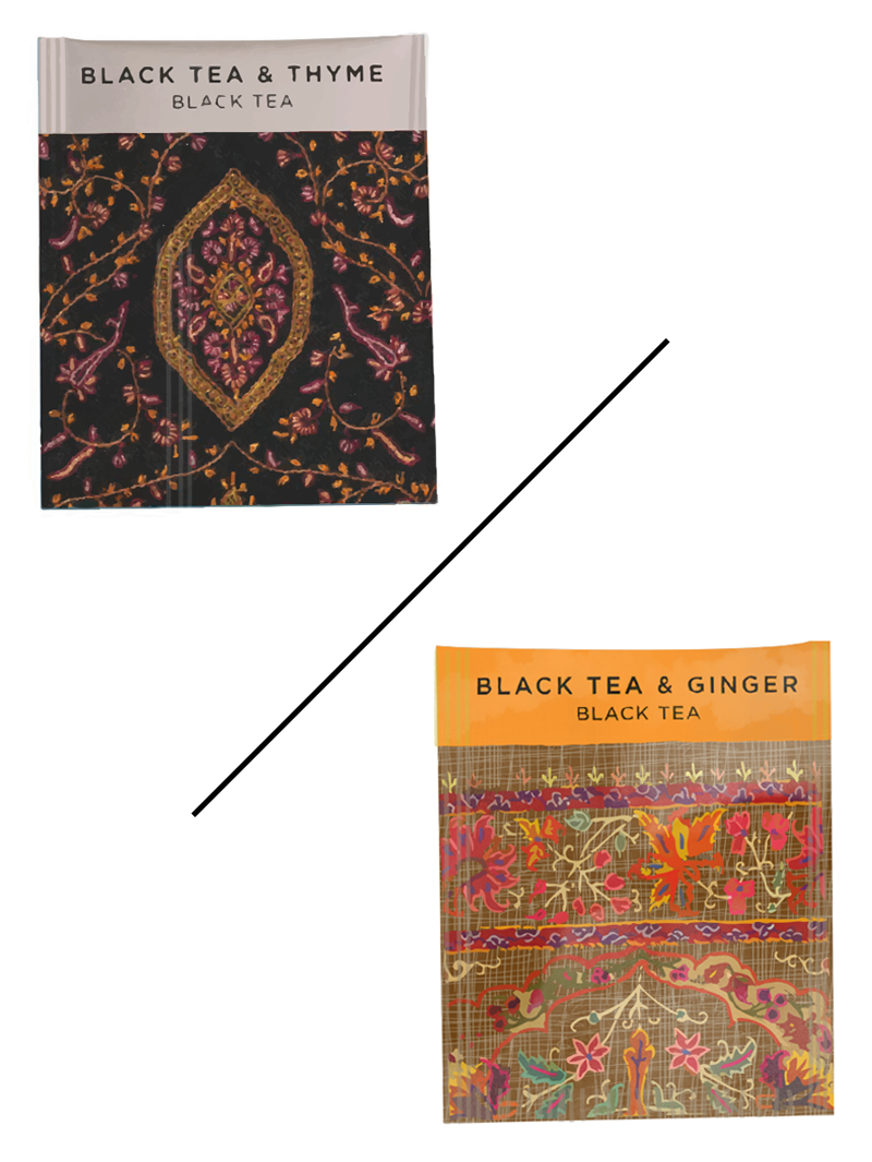 Black Tea & Ginger / Black Tea & Thyme - C / N